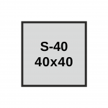 40x40 mm