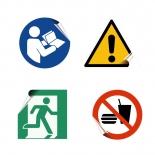 Ohutus- ja hoiatusmärgi kleebised