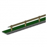 Wood-steel barriers