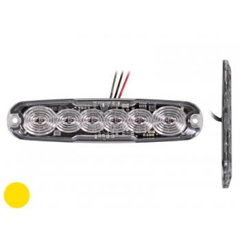 LED pindvilkur LEDx6, 12-24V, kollane
