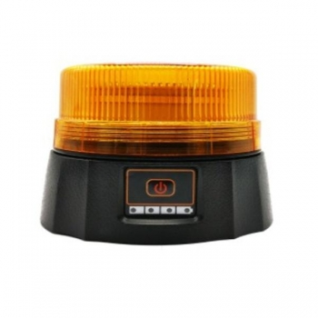 Rechargeable low profile beacon light with buzzer