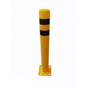 Metal bollard Ø114 mm H915 mm, yellow-black