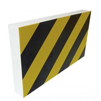 Iseliimuv hoiatuskaitse kollane/must 200x350x40mm