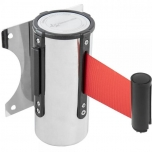Inox wall fixing with 3 meters of red retractable tape