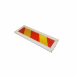 Road sign 686 foil RA2 800x200mm, red-yellow