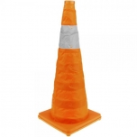 Traffic cone with reflector signaling and beacon 70 cm foldable