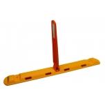 Eraldaja 1170x150x50 mm, koos painduvate H=600mm helkur tähistega, oranz