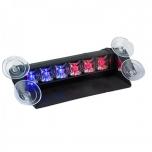 Esiklaasi LED vilkur, 12V, iminappadega