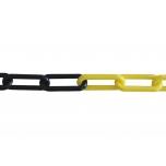 Plastikust kett must-kollane 6mm