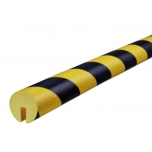 Hoiatuskaitse B, kollane-must, 1000 mm
