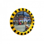 Round industrial warehouse safety mirror