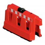 Barrier WALL red H600mm