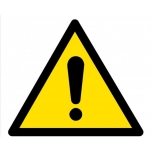 Caution sign: General warning sign