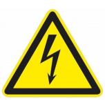 """Hoiatusmärk """"Elektrioht"""", põrandakleebis"""