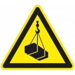 Caution sign: floating loads