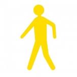 "Põrandakleebis ""Jalakäija"" H600mm, kollane"