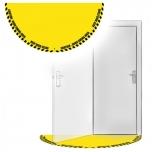 """Põrandakleebis """"Ukse perimeetri tähistus"""", 865 x 1725 mm, kollane"""