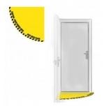 """Põrandakleebis """"Ukse perimeetri tähistus"""", 860x860 mm, kollane"""