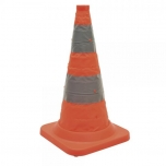 Foldable safety cone 75cm with LED