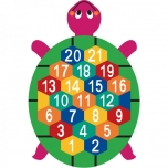 Turtle with numbers 1-20