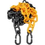 Plastic chain yellow-black 9mm, lenght 25m