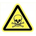 Warning sign: Toxic material