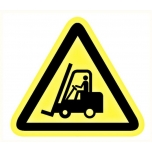 Caution sign: forklifts