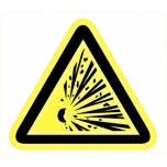 Caution sign: Explosive material