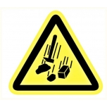 Caution sign: falling objects