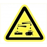 Warning sign: Corrosive material