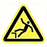 Caution sign: Danger drop