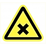 Caution sign: Harmful chemicals