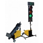 Mobile traffic light with 3-digit count down display, 2pcs