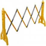 Extendable barrier 23-250 cm yellow and black with reflectors (SB07100)