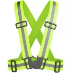 Reflective belt high visibility vest with elastic straps for safety running cycling and sports