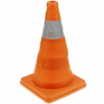 Traffic cone with signaling reflector and 32 cm folding beacon