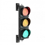 Traffic light black, LED 3 x 100mm 220V