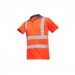 Polo T-shirt, HI-Vis, orange