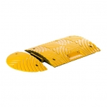Speed bump end element H50, PVC yellow
