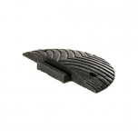 Speed bump end element H50, PVC black
