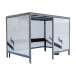 Smoking shelter 280 cm