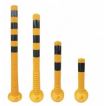 Flexible Delineators yellow with black stripes