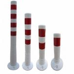 Flex post valge punase RA1 helkurkleebistega