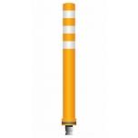 Flex pole cone Ø80 H=800 - orange - tape white