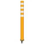 Flex pole cone Ø80 H=1000 - orange - tape4x150mm white