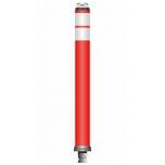 Flex pole cone Ø80 H=800 - red - 2x tape white