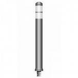 Flex pole cone Ø80 H=800 - grey - tape white