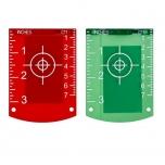 Laser target red, green