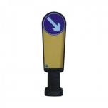 Flexible signpost, H=900mm, 220 mm, reflective film RA2