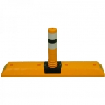 Parking curb with flexible post 1000x200x465mm, 2x reflector tape